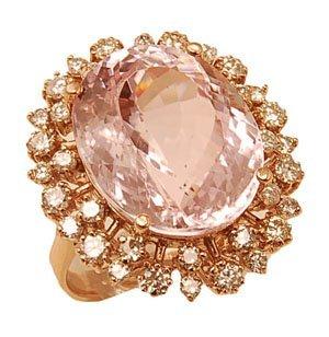 7.0 gr 14K Rose Gold, 1.30 ct Diamonds, 16.20 ct