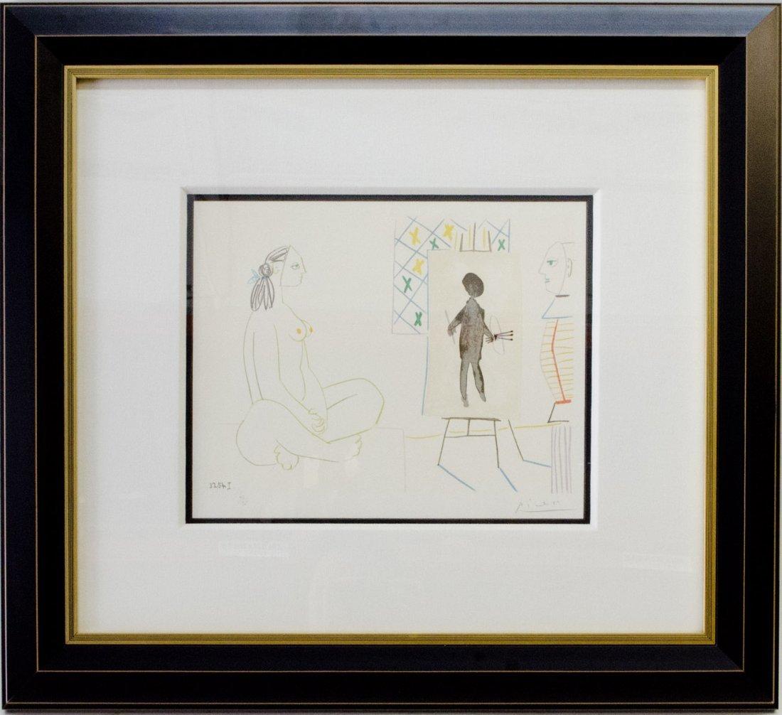 """Pablo Picasso """"Painter & The Model"""" , 1954 Color"""
