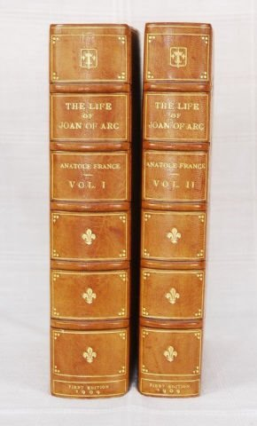 "2 Antique Leather-Bound  ""The Life of Joan of Arc"""