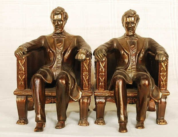 Pair of Vintage Abraham Lincoln Bookends by Dodge