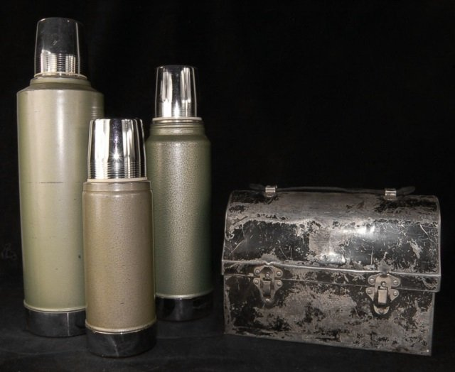 3 Vintage Stanley Thermos with Penimaid lunch box - 2