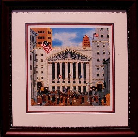"Jane Wooster Scott ""Stock Exchange"" Hand Signed Jane"