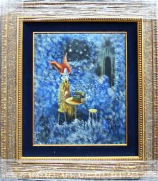 "Remedios Varo, Untitled, 27""x30"". Oil on wood. Remedios"