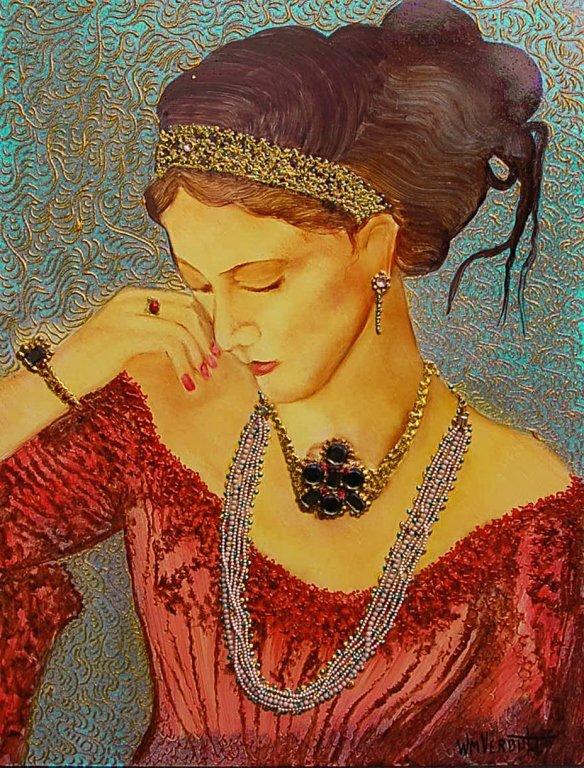 "Original W. Verdult ""Greek Goddess"" #778, Jeweled"