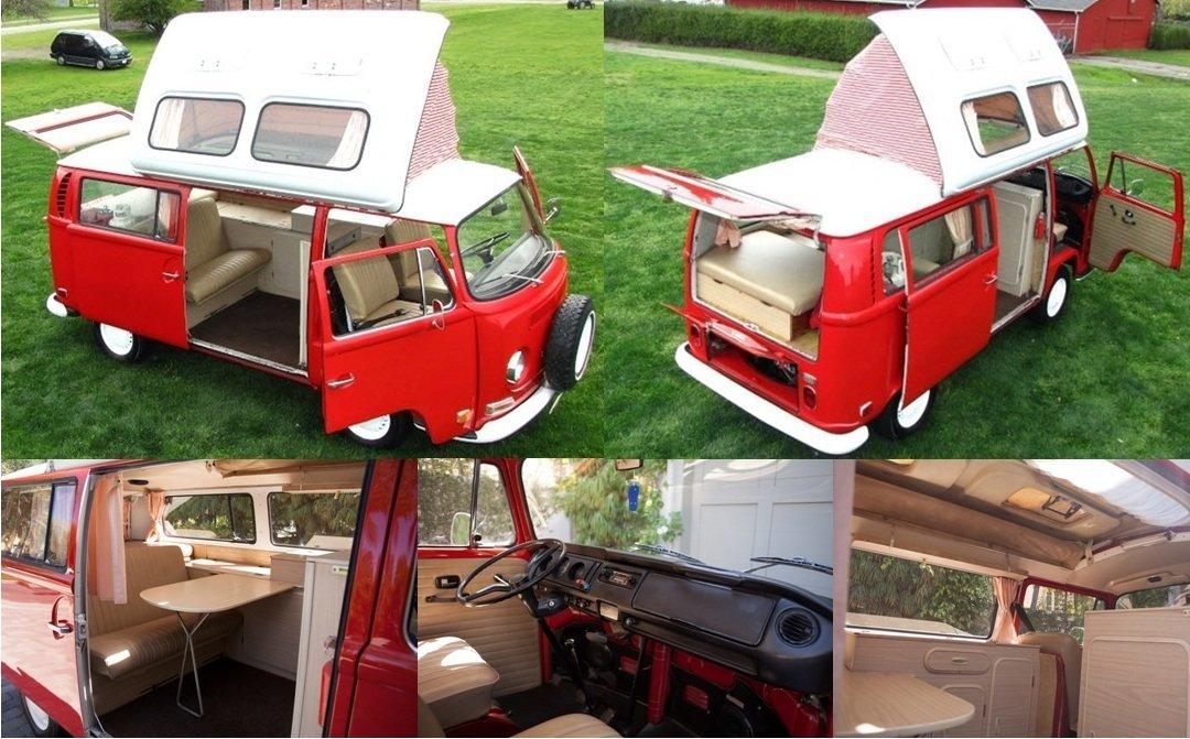 Original 1971 VW Dormobile Bus New Engine!