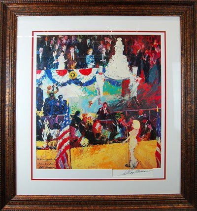 "Leroy Neiman ""Happy Birthday Mr. President"" Signed"