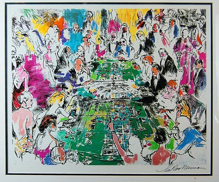 "Leroy Neiman ""Game of Life"" Signed"