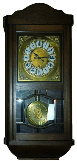 Vintage Walnut Wall Clock