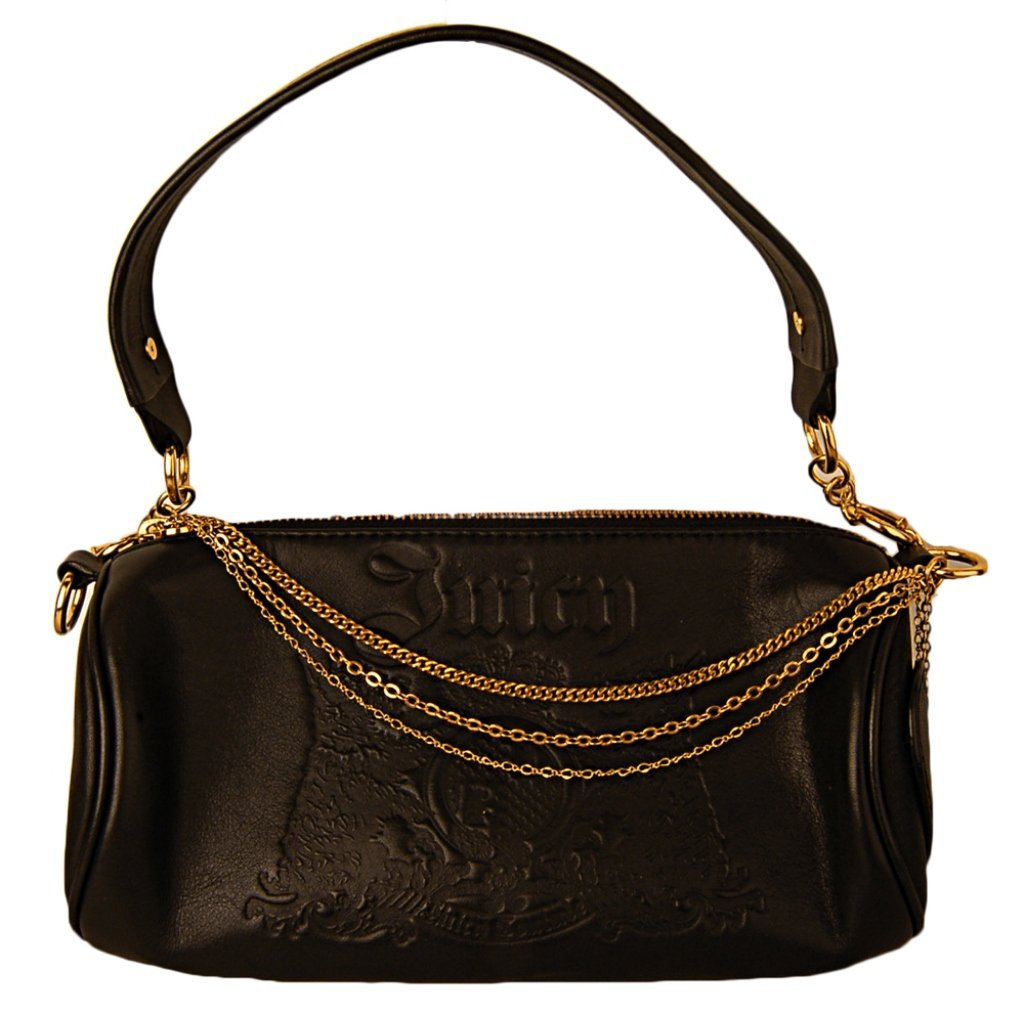 Juicy Couture Hand Bag/Purse Black w/ Gold Chain