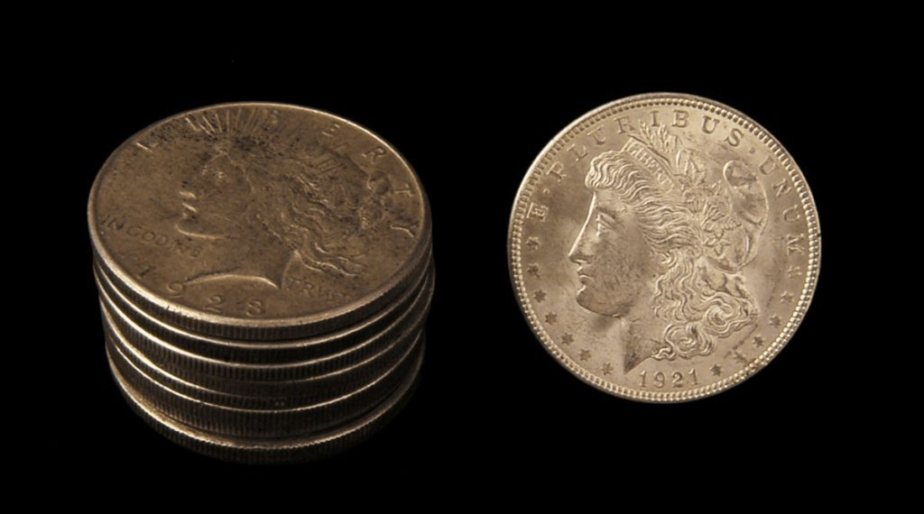 Lot of 10 Silver Dollars 1921 - 1923 G4 - EF-40