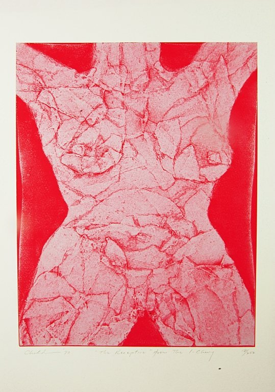 """Signed and Num. Litho by V. Childs """"The Receptive"""""""