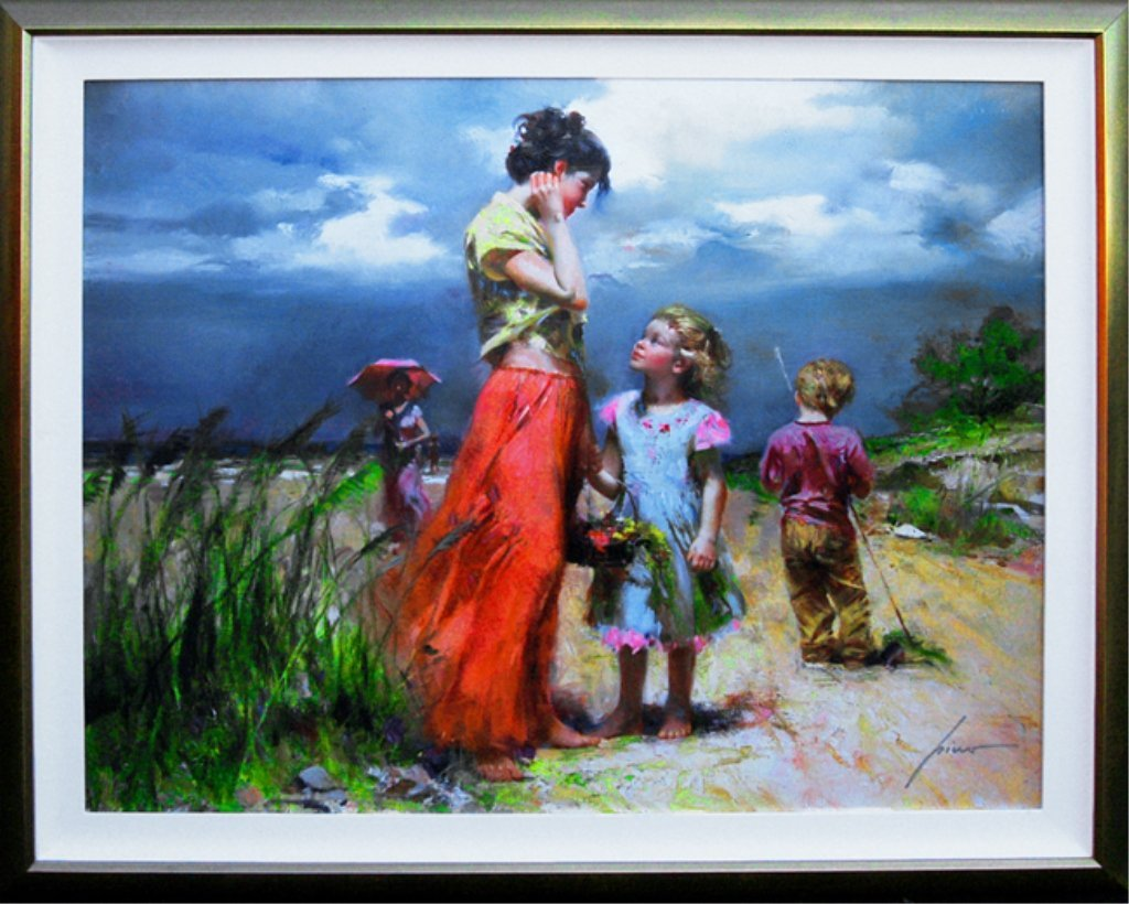 """Large Original Pino """"Remember When"""" Signed Giclee"""