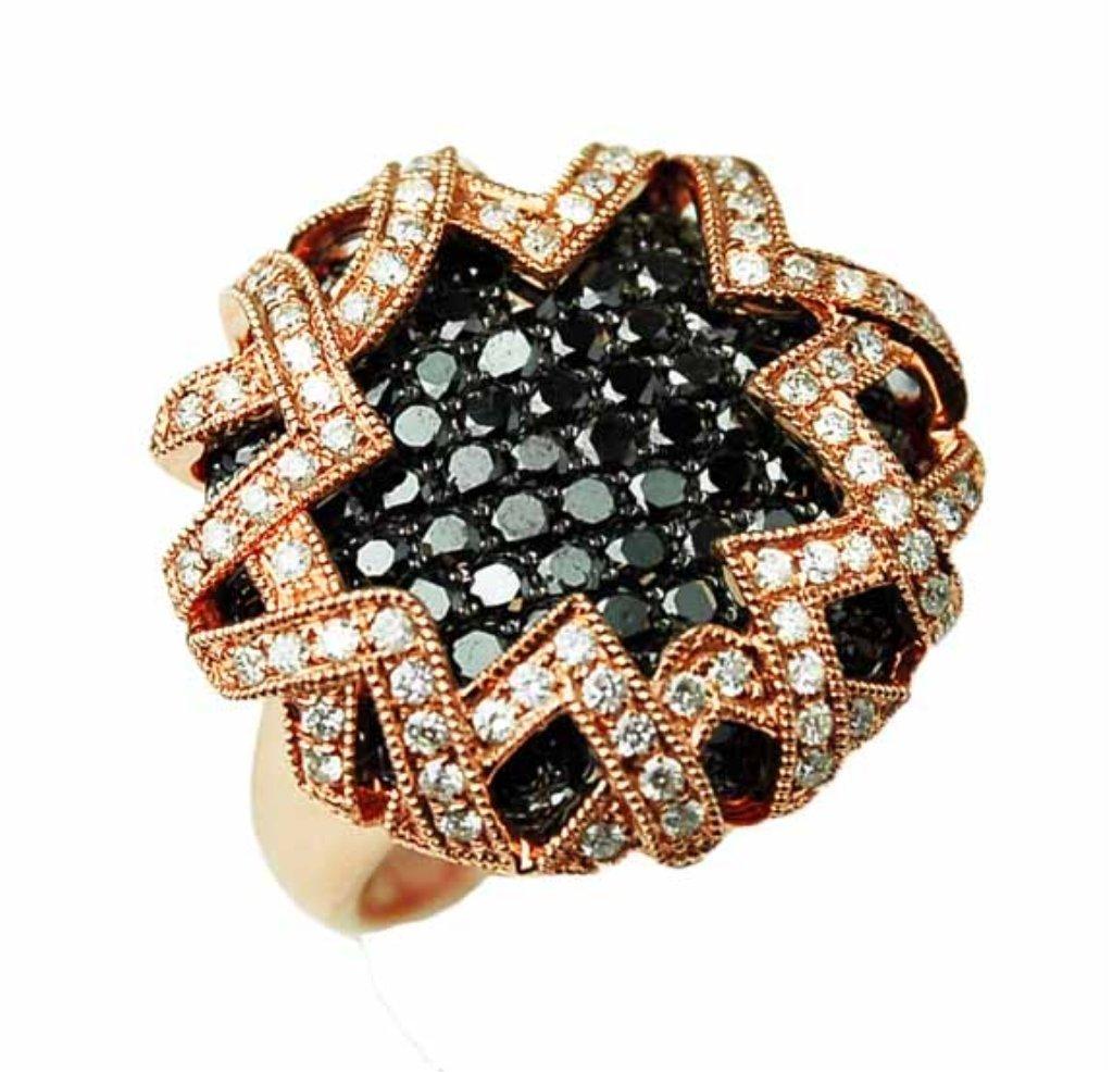2.70ct Black Diamond & 0.51ct Diamond Ring