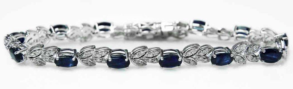 7.55ct Sapphire & 1.25ct Diamond Bracelet
