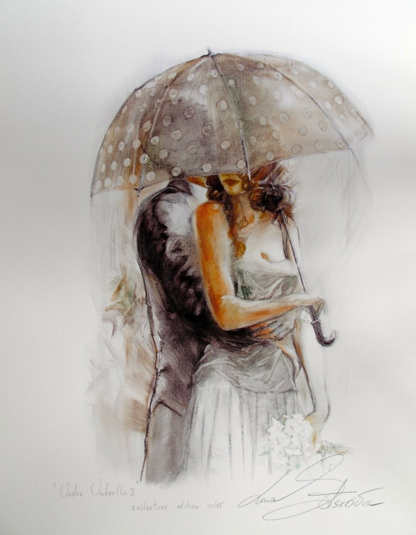 Lena Sotskova, Under the Umbrella, Ltd Ed Hand Signed