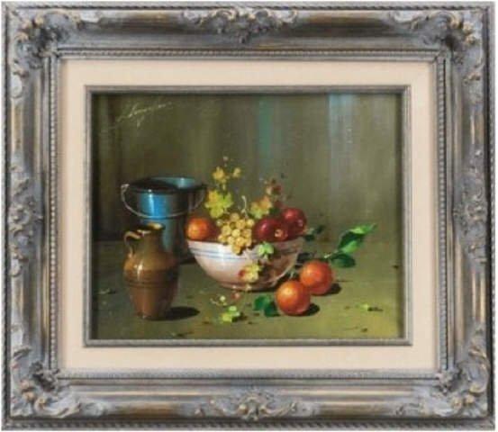 Langello, STILL LIFE, Original Oil painting signed