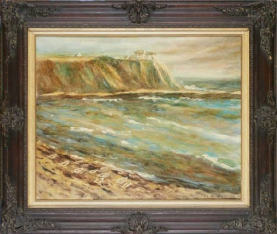 Frank Caldwell,Seascape, Original Oil on Canvas