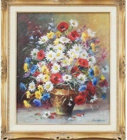Eugene Demester, Still Live with Flowers, Original