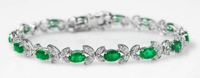 5.76ct Emerald & 1.50ct Diamond Bracelet