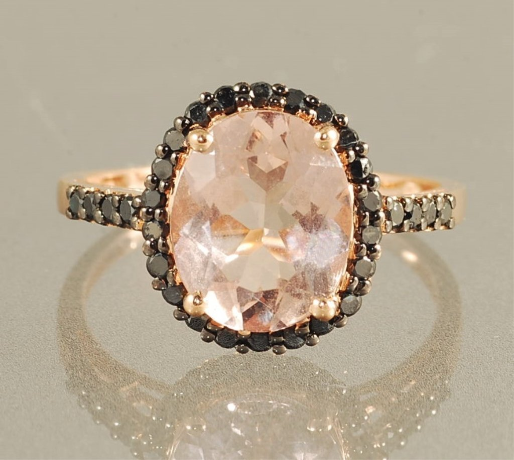 3.75ct MORGANITE & DIAMOND RING