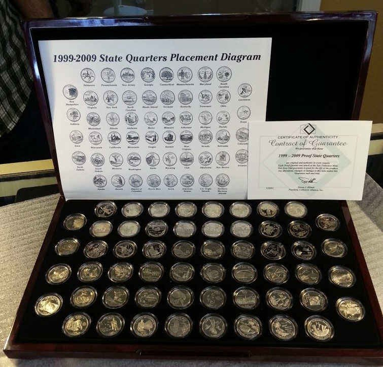 1999-2009 Proof State Quarters in Box with Cert