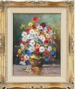 Eugene Demester, FLORAL BOUQUET, Original Oil