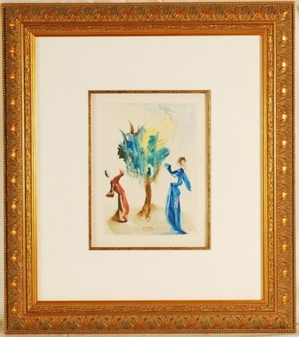 "Salvador Dali ""Divine Comedy"" Signed 1960 Origin"