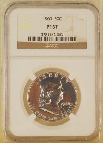 Franklin Half Dollar Silver Coin 1960 50C PF67