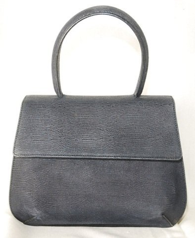 Salvatore Ferragamo Dark Blue Leather Bag