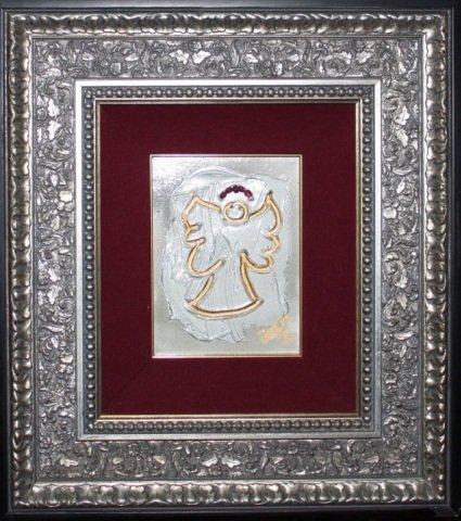 """Joem """"Angel"""" Original on Canvas w/ Natural Rubies"""
