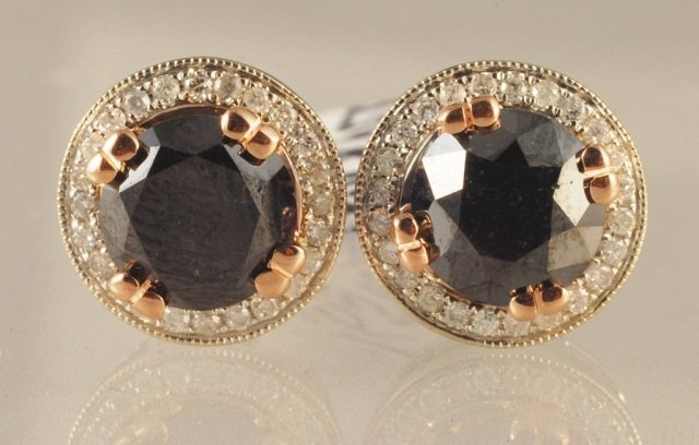 3.80ct Diamond Stud Earrings in White Gold