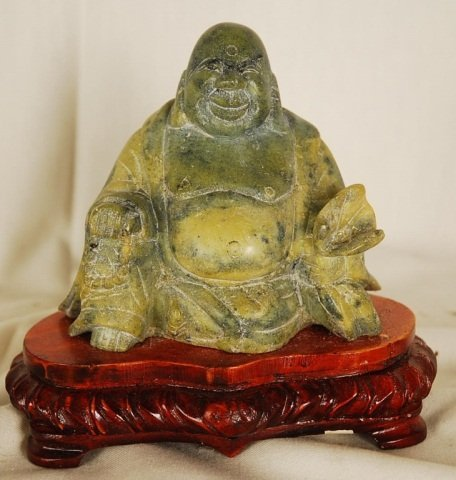 Hand Carved Jadeite Buddha