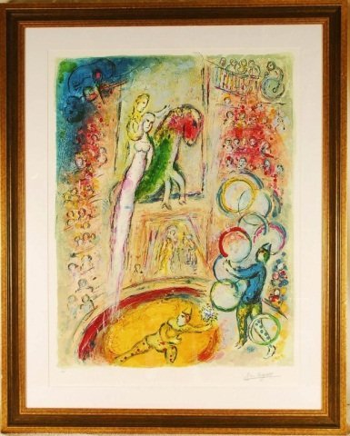 """Marc Chagall, """"Circus IV"""" Limited Edition."""