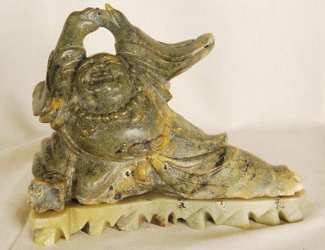 "Hand Carved Jadeite Stone Buddha 7""Tall"