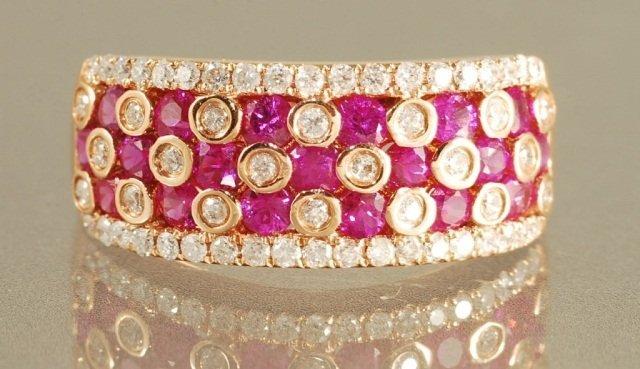 1.71CT HOT PINK RUBY & DIAMOND RING