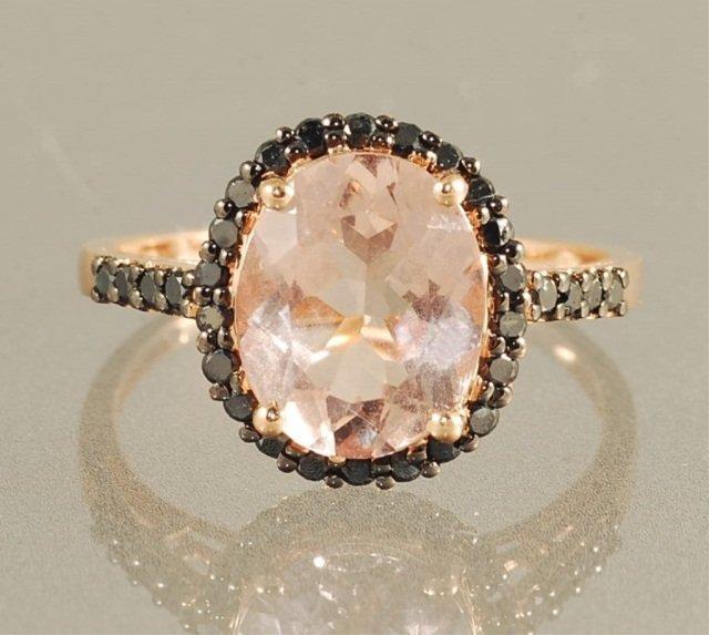 3.75ct MORGANITE & DIAMOND RING