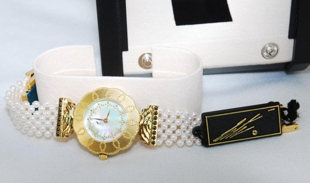 Erte Watch, Mother of Pearl Face & Pearl Band