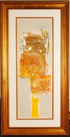"Cecilia Garcia Amaro, ""Deserto Cobriso"" Orig Paint"