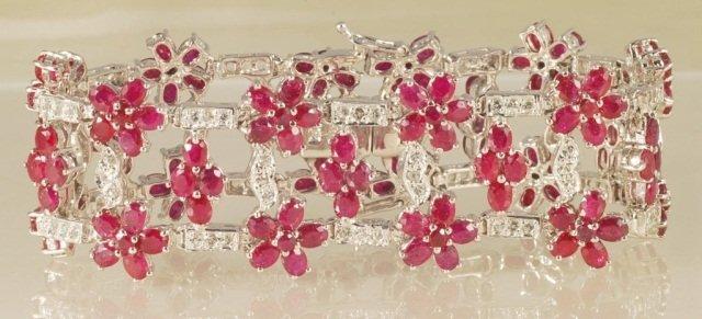 43.59ct Ruby Bracelet