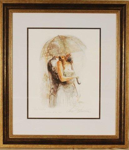 "Lena Sostkova ""Under Umbrella I"" Hand Signed"