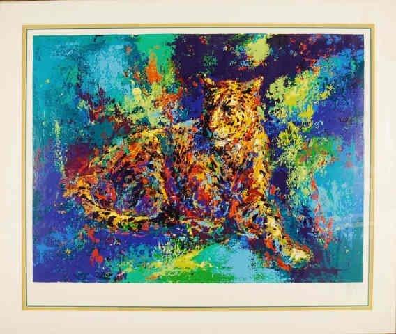 "Mark King ""Leopard"" Hand Signed 32"" x 40"" Ltd Ed"