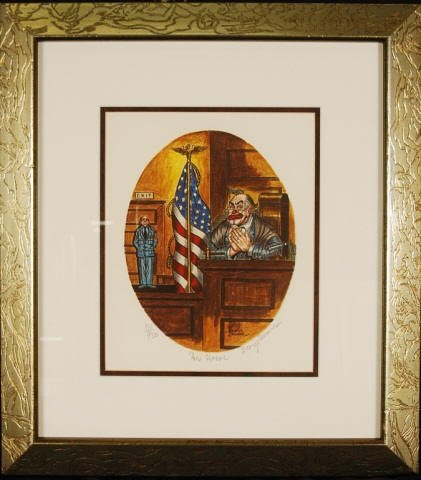 """George Crionas  """"His Honor"""" Hand Signed"""