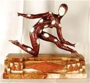 "Demitri Chiparus ""Leotard"" Art Deco Bronze Statue"