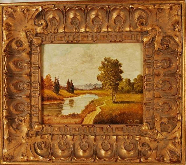 Alberti, Original Oil Painting on Board, Hand Sign