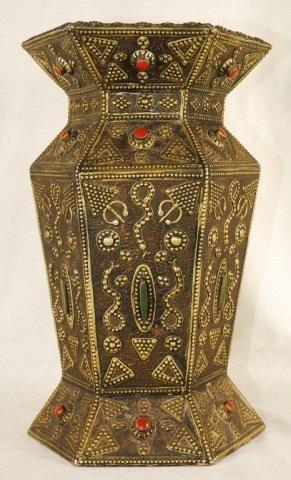 Antique Moroccan Brass Vase