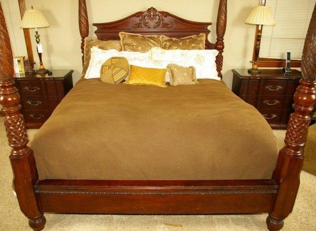 Bernhardt Belmont King Poster Bed & 2 Night Stands - 7
