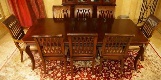 Bernhardt Dining Rm, Embassy Row, Table, 10 Chairs
