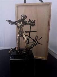 """Salvador Dali """"Triton"""" Ltd Ed Signed Bronze Sculpt"""