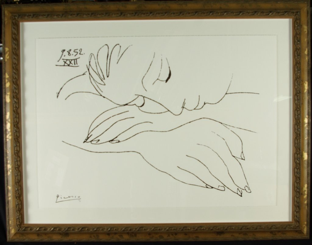 """Pablo Picasso """"War and Peace"""" Offset Lithograph"""