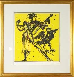 "Salvador Dali ""John"" Hand Signed Lithograph"